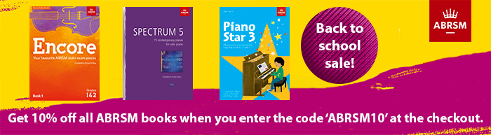 Save 10% on all ABRSM Publications in August