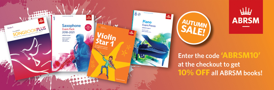 Save 10% with offer code ABRSM10