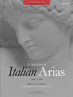 A Selection of Italian Arias 1600–1800