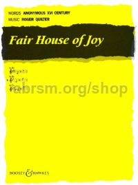 Fair House Of Joy in Bb - medium voice & piano