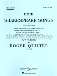 5 Shakespeare Songs, op. 23 (Low Voice)