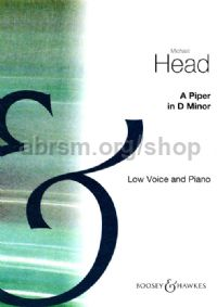 A Piper (in Dmin) for Low Voice & Piano