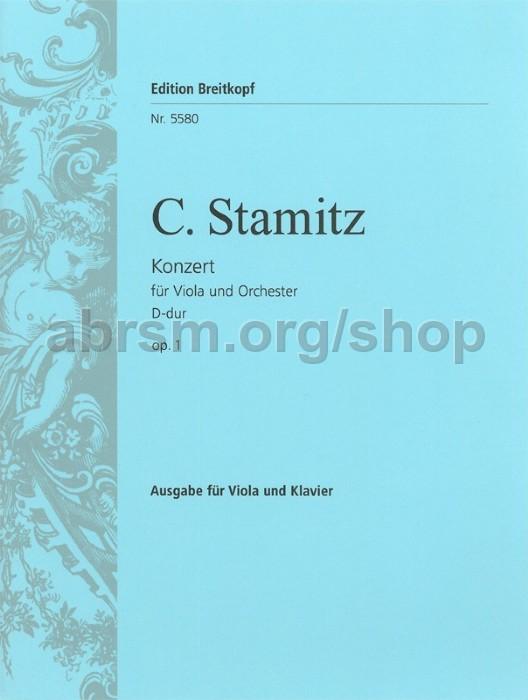 Carl Stamitz - Viola Concerto in D major Op  1 - Viola & Piano