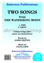 Two Songs from the Wandering Moon for unison voices