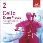Cello Exam Pieces 2016 (CD only), ABRSM Grade 2