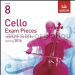 Cello Exam Pieces 2016 2 CDs, ABRSM Grade 8