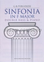 Sinfonia in F major - double bass & piano