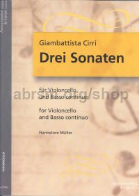 3 Sonatas for Cello