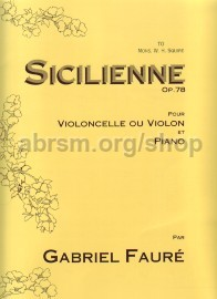 Sicilienne Op. 78 Vc (Or Vn)/Piano