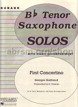 First Concertino for tenor saxophone, trans. Voxman
