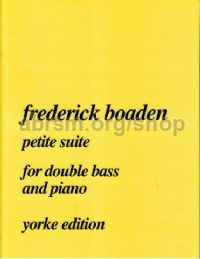 Petite Suite for Double Bass & Piano