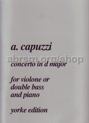 Concerto in D major for double bass & piano