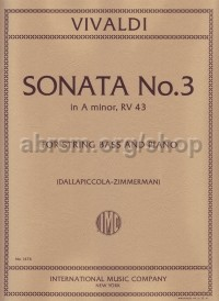 Sonata no.3 in A minor RV 43 (for double bass)