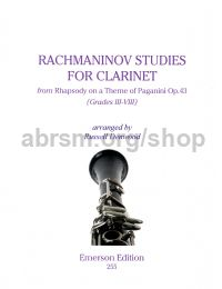 Rachmaninov Studies for Clarinet (from Rhapsody on a Theme of Paganini Op 43)