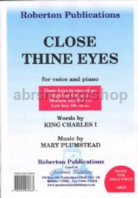 Close Thine Eyes  (High/Med/Low keys)