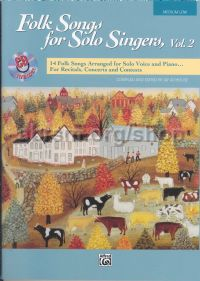 Folk Songs for Solo Singers 2 Medium/Low (Book & CD)