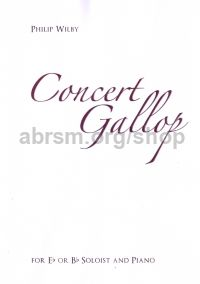 Concert Gallop for Eb or Bb soloist and piano (treble/bass clef and piano)