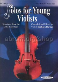 Solos for Young Violists, Vol. 3