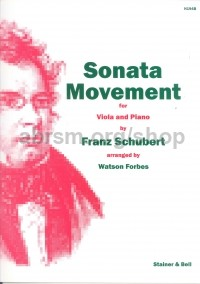Sonata Movement In Bb D471: Viola & piano