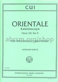 Orientale - Kaleidoscope Op. 50 No. 9 for cello & piano
