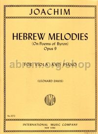Hebrew Melodies for Viola, Op. 9