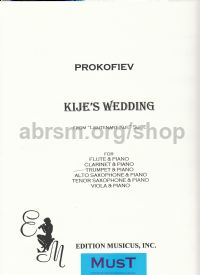 "Kijé's Wedding (from ""Lieutenant Kijé Suite Op 60"") arr. trumpet (or any Bb instruments) & piano"