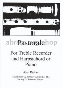 Pastorale for treble recorder & piano