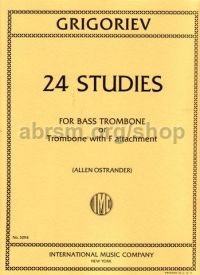 24 Studies for Trombone/Bass Trombone