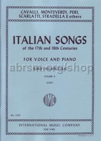 Italian Songs of the 17th and 18th Centuries, Vol. 2 Low Voice