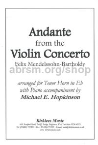 Andante from Violin Concerto (arr. tenor horn & piano)