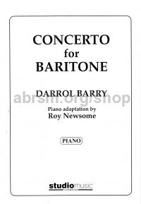 Concerto for Baritone (treble/bass clefs and piano)