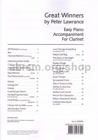 Great Winners for Clarinet (Piano Accompaniment)