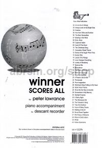 Winner Scores All for Descant Recorder (Piano Accompaniment)