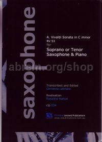 Sonata in C minor, RV 53, trans. Leonard for soprano or tenor saxophone