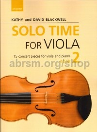 Solo Time For Viola - Book 2