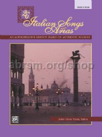 26 Italian Songs & Arias (Med/High) Book