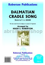 Dalmatian Cradle Song for unison voices