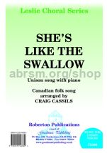 She's Like the Swallow for unison choir