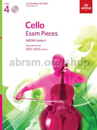 Cello Exam Pieces 2020-2023, ABRSM Grade 4, Score, Part & CD