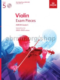Violin Exam Pieces 2020-2023, ABRSM Grade 5, Score, Part & CD