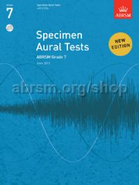 Specimen Aural Tests, Grade 7 with 2 CDs
