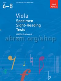 Viola Specimen Sight-Reading Tests, ABRSM Grades 6–8