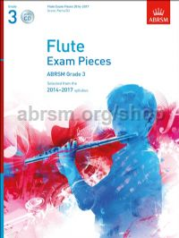 Flute Exam Pieces 2014–2017, Grade 3 Score, Part & CD