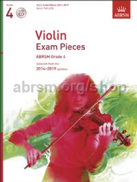 Violin Exam Pieces 2016–2019, ABRSM Grade 4, Score, Part & CD
