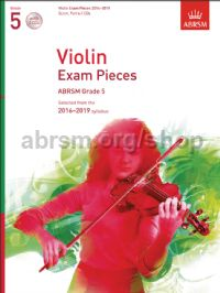 Violin Exam Pieces 2016–2019, ABRSM Grade 5, Score, Part & 2 CDs