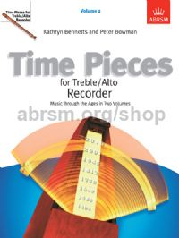 Time Pieces for Treble/Alto Recorder, Volume 2