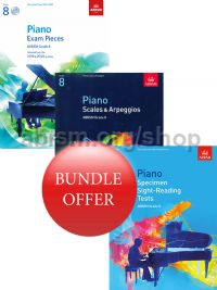 ABRSM Piano Exams 2019-2020 Grade 8 Bundle Offer (Book & CD) - Save 10%