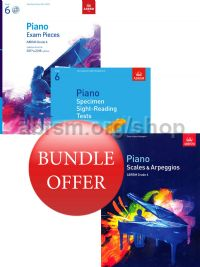 ABRSM Piano Exams 2017-2018 Grade 6 Bundle Offer (Book & CD) - Save 10%