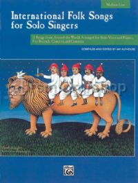 International Folk Songs for Solo Singers (Medium/Low) (Book & CD)