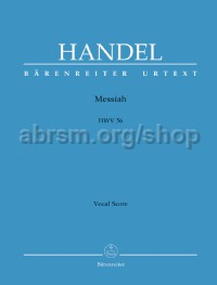 Messiah English text (Vocal Score: Urtext Edition)